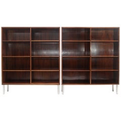 Pair of Rosewood Omann Jun Large Bookcases, Denmark, 1960s