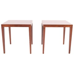 Pair of Rosewood Side Tables by Severin Hansen for Haslev, Denmark