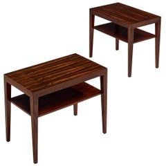 Pair of Rosewood Side Tables by Severin Hansen