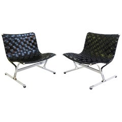 Pair of Ross Littel Luar Lounge Chairs for Icf De Padova, Italy, 1965
