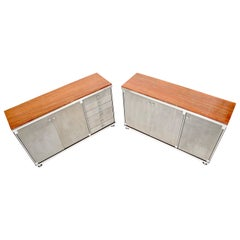 Pair of Rouge Marble Top Guido Faleschini Dressers Chests Cabinets Credenzas
