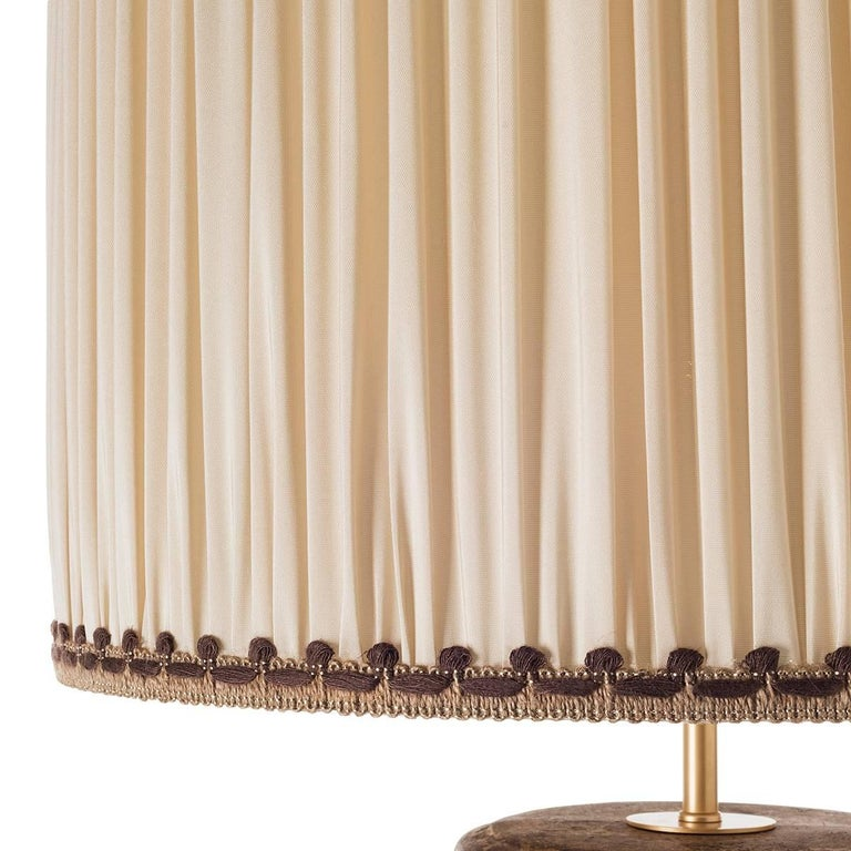 French Provincial Contemporary Table Lamps, Round Bellied in Ceramic  For Sale