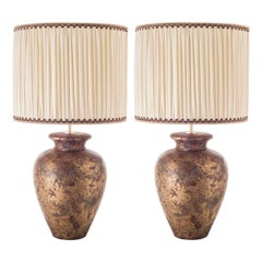 Contemporary Table Lamps, Round Bellied in Ceramic