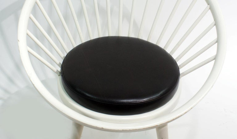 20th Century Pair of Round Chair by Yngve Ekstrom, 1960 For Sale