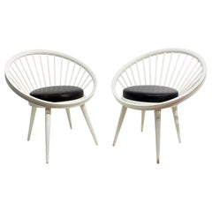 Pair of Round Chair by Yngve Ekstrom, 1960