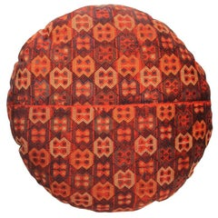 Pair of Round Decorative Persian Accent Pillow With Down Filling
