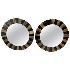 Pair of Round Horn Mirrors