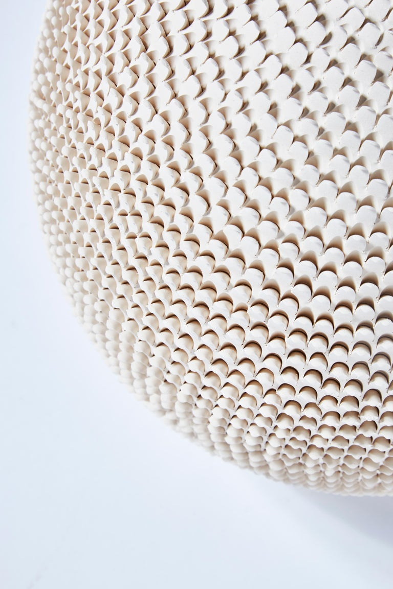 Pair of Round Modern Ceramic Table Lamps 1
