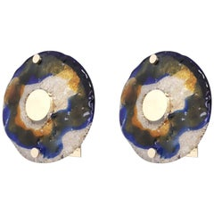 Pair of Round Sconces by Barovier e Toso, 2 Pairs Available