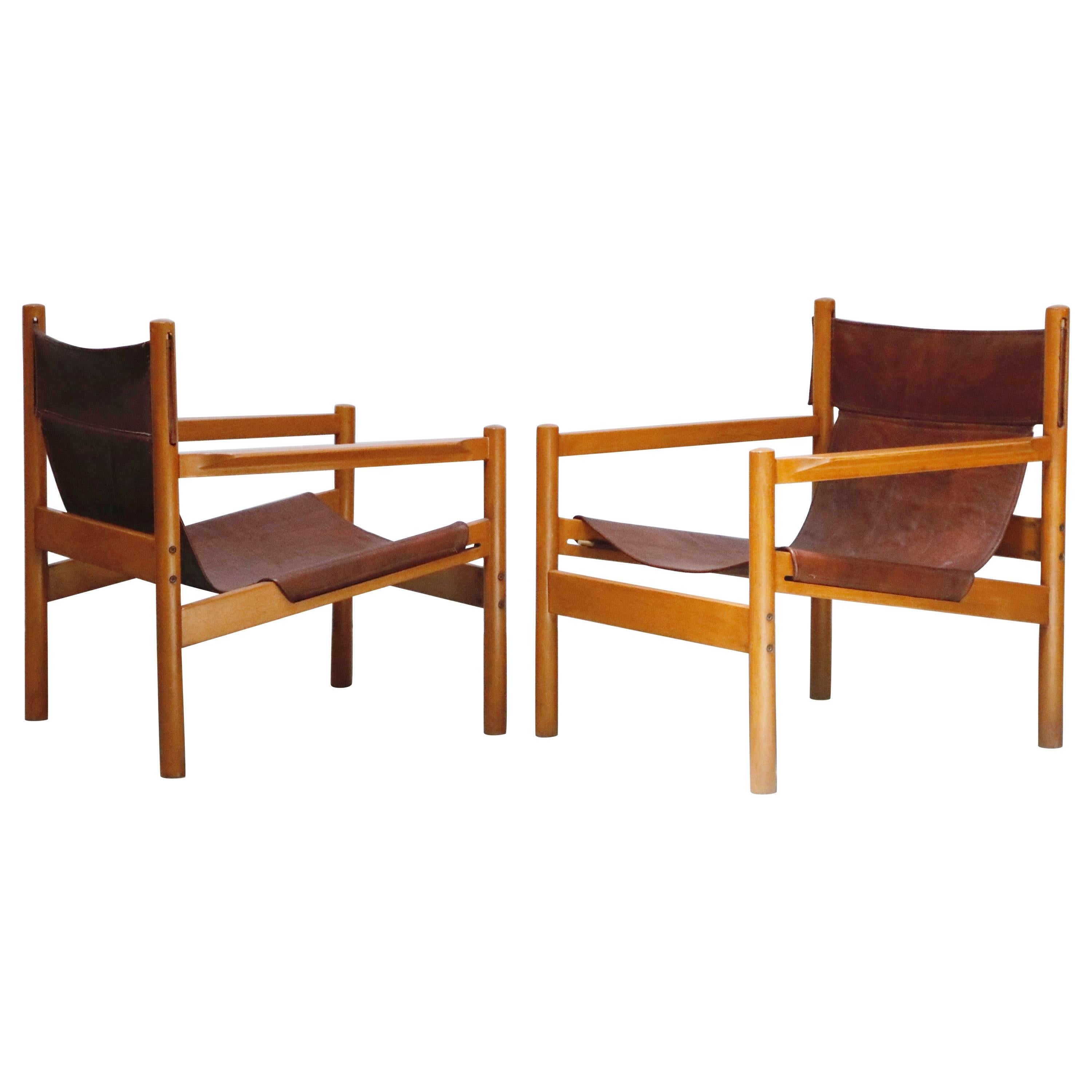 Pair of 'Roxinho' Lounge Chairs by Michel Arnoult, Brazil, 1960s