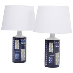 Pair of Blue Royal 7 Tenera Table Lamps by Ingelise Kofoed for Fog & Mørup, 1967