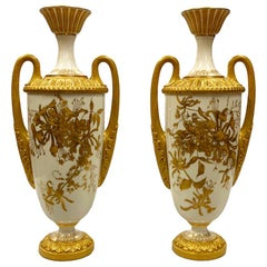 Pair of Royal Worcester Porcelain Vases, circa 1900