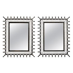 Pair of Wrought Iron Frame Mirrors