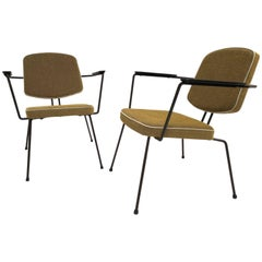 Pair of Rudolf Wolff Easy Chairs '5003' for Elsrijk the Netherlands, 1950s