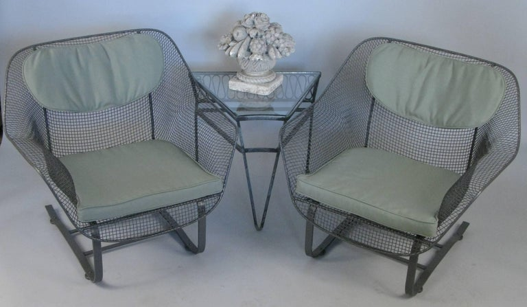 American Pair of Russell Woodard 1950s Sculptura Lounge Chairs For Sale