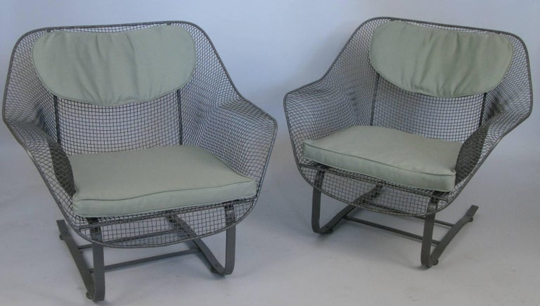 Pair of Russell Woodard 1950s Sculptura Lounge Chairs In Good Condition For Sale In Hudson, NY