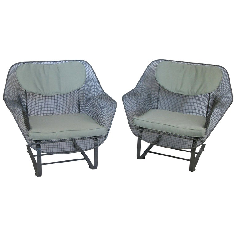 Pair of Russell Woodard 1950s Sculptura Lounge Chairs For Sale