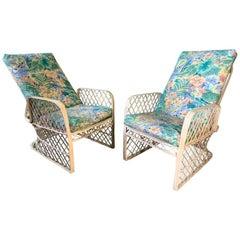 Pair of Russell Woodard Spun Fiberglass Adjustable Lounge Chairs