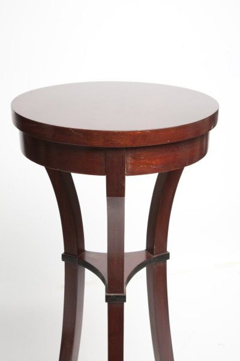 Biedermeier Pair of Russian Biedermeir Small Round Side Tables For Sale