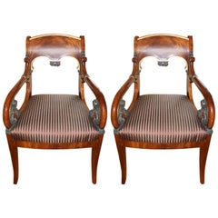 Pair of Russian Neoclassic Armchairs