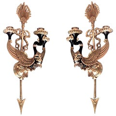 Pair of Russian Neoclassic Style Two-Arm Sconces
