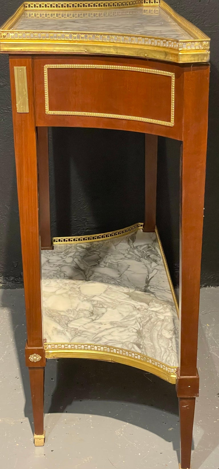 Pair of Russian Neoclassical Console Tables, Sofa Tables or Bedside Stands For Sale 4