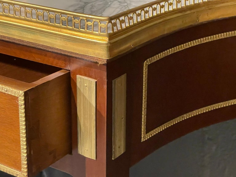 Bronze Pair of Russian Neoclassical Console Tables, Sofa Tables or Bedside Stands For Sale