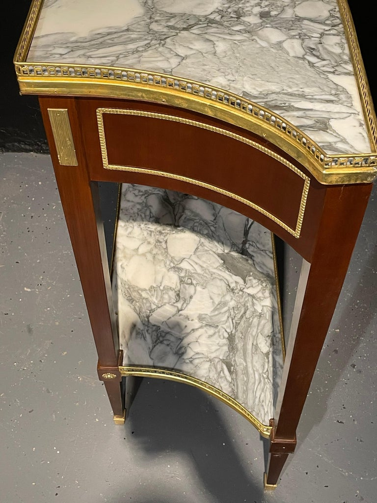 Pair of Russian Neoclassical Console Tables, Sofa Tables or Bedside Stands For Sale 2