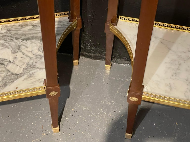 Pair of Russian Neoclassical Console Tables, Sofa Tables or Bedside Stands For Sale 3