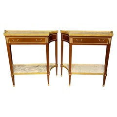 Pair of Russian Neoclassical Console Tables, Sofa Tables or Bedside Stands