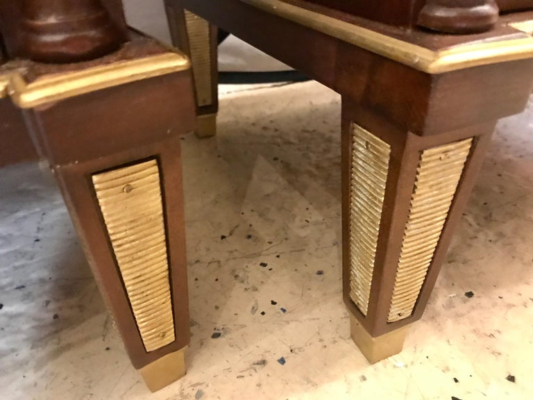 Pair of Russian Neoclassical Style Commodes / Bedside Nightstands or Servers For Sale 12