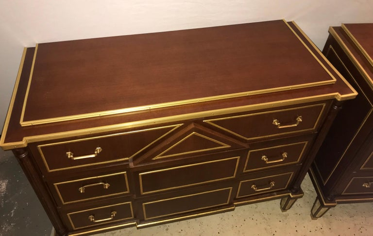 Pair of Russian Neoclassical Style Commodes / Bedside Nightstands or Servers For Sale 2