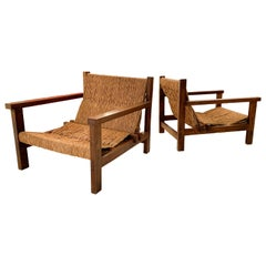 Pair of Rustic Armchairs, circa 1970, Spain