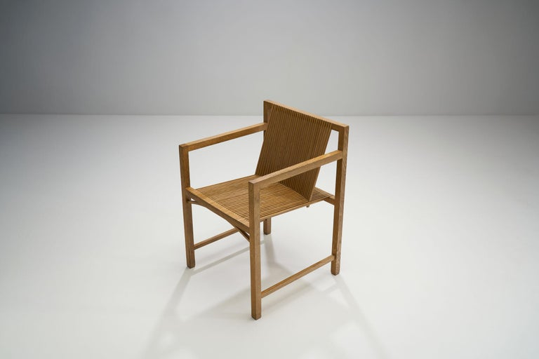Pair of Ruud-Jan Kokke Slat Chairs, the Netherlands, 1986 For Sale 4