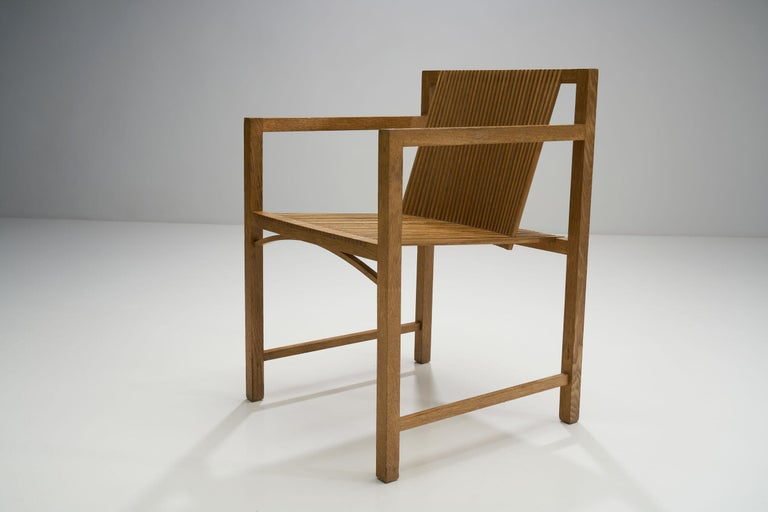 Pair of Ruud-Jan Kokke Slat Chairs, the Netherlands, 1986 For Sale 5