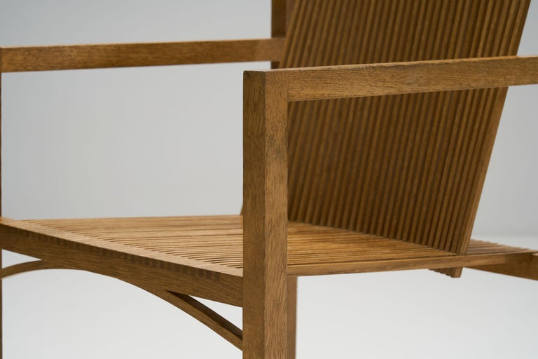 Pair of Ruud-Jan Kokke Slat Chairs, the Netherlands, 1986 For Sale 7