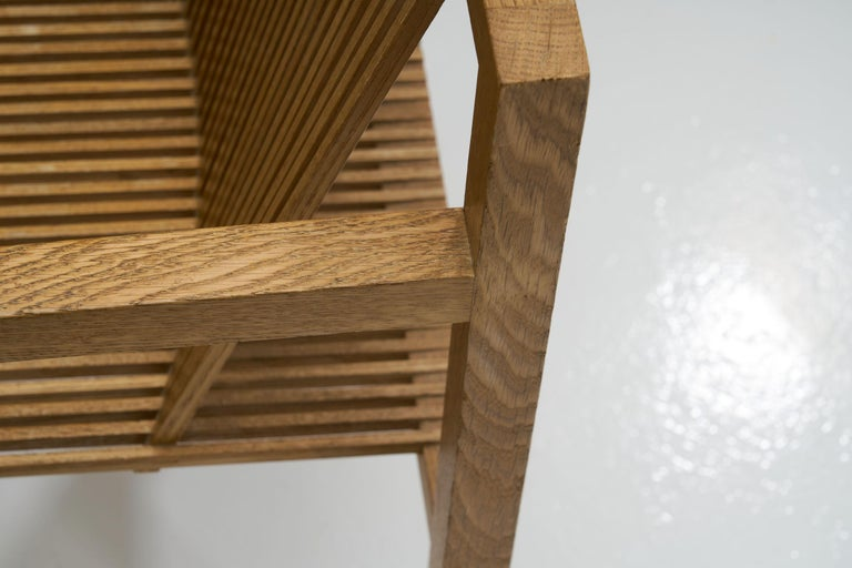 Pair of Ruud-Jan Kokke Slat Chairs, the Netherlands, 1986 For Sale 9