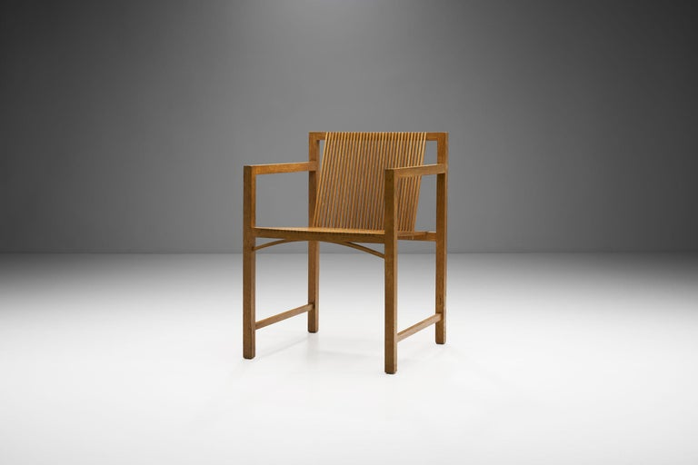Pair of Ruud-Jan Kokke Slat Chairs, the Netherlands, 1986 In Good Condition For Sale In Utrecht, NL