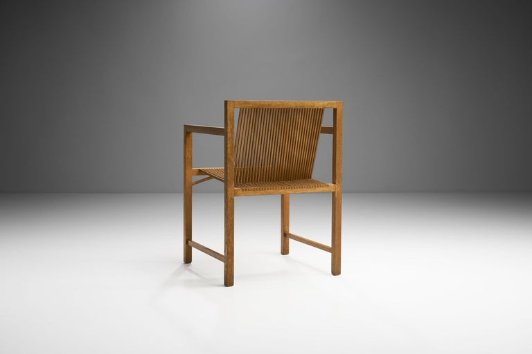 Late 20th Century Pair of Ruud-Jan Kokke Slat Chairs, the Netherlands, 1986 For Sale