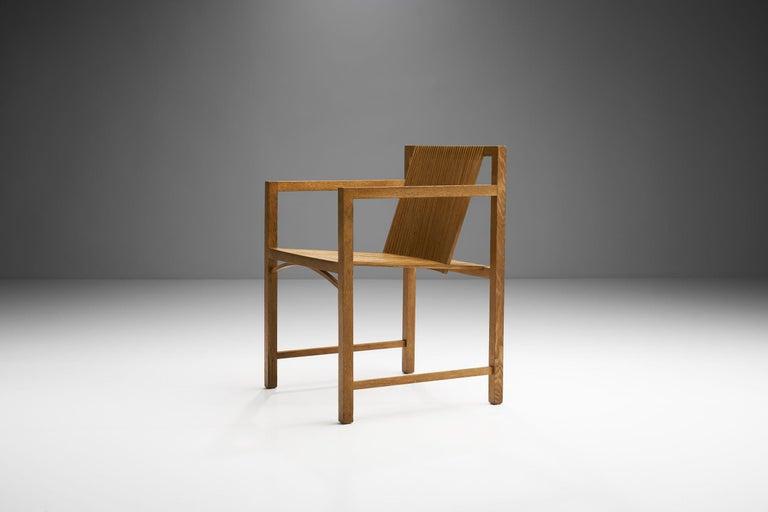 Oak Pair of Ruud-Jan Kokke Slat Chairs, the Netherlands, 1986 For Sale