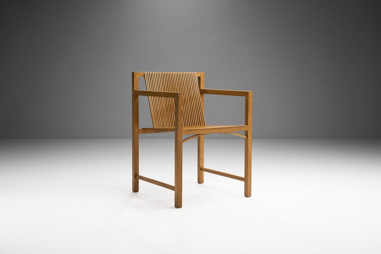 Pair of Ruud-Jan Kokke Slat Chairs, the Netherlands, 1986 For Sale 1
