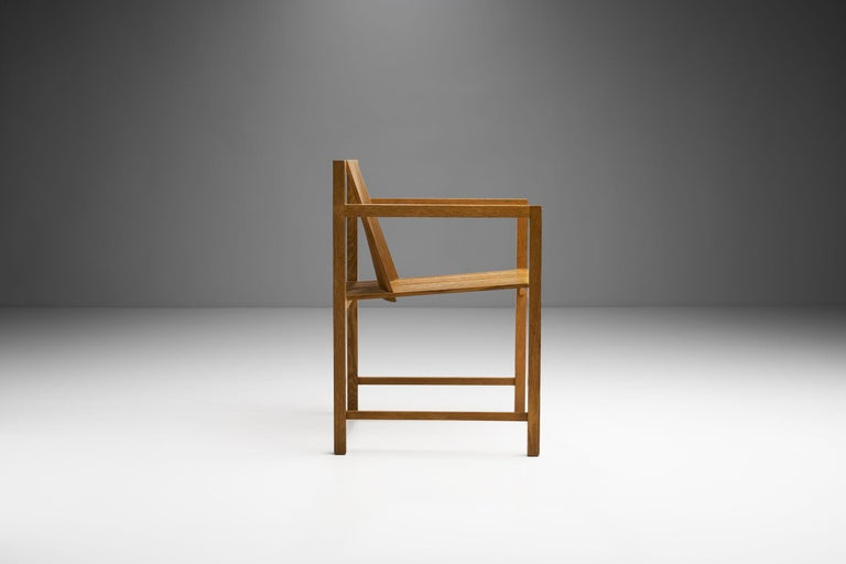 Pair of Ruud-Jan Kokke Slat Chairs, the Netherlands, 1986 For Sale 2