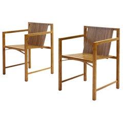 Pair of Ruud-Jan Kokke Slat Chairs, the Netherlands, 1986