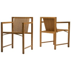 Pair of Ruud-Jan Kokke Slat Chairs, the Netherlands, 1986