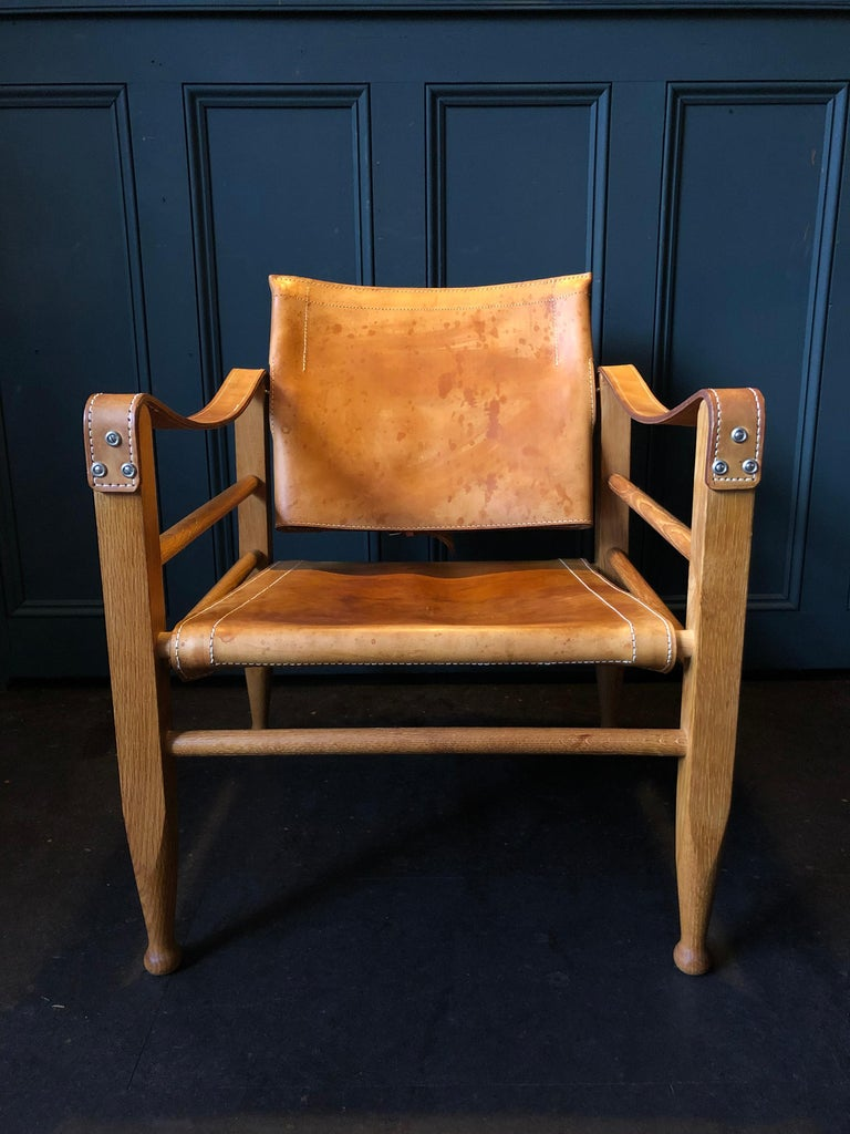 Pair of Safari Chairs and Table, Aage Bruun & Son, Børge Mogensen For Sale 3