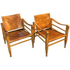 Pair of Safari Chairs, Børge Mogensen, Aage Bruun and Son
