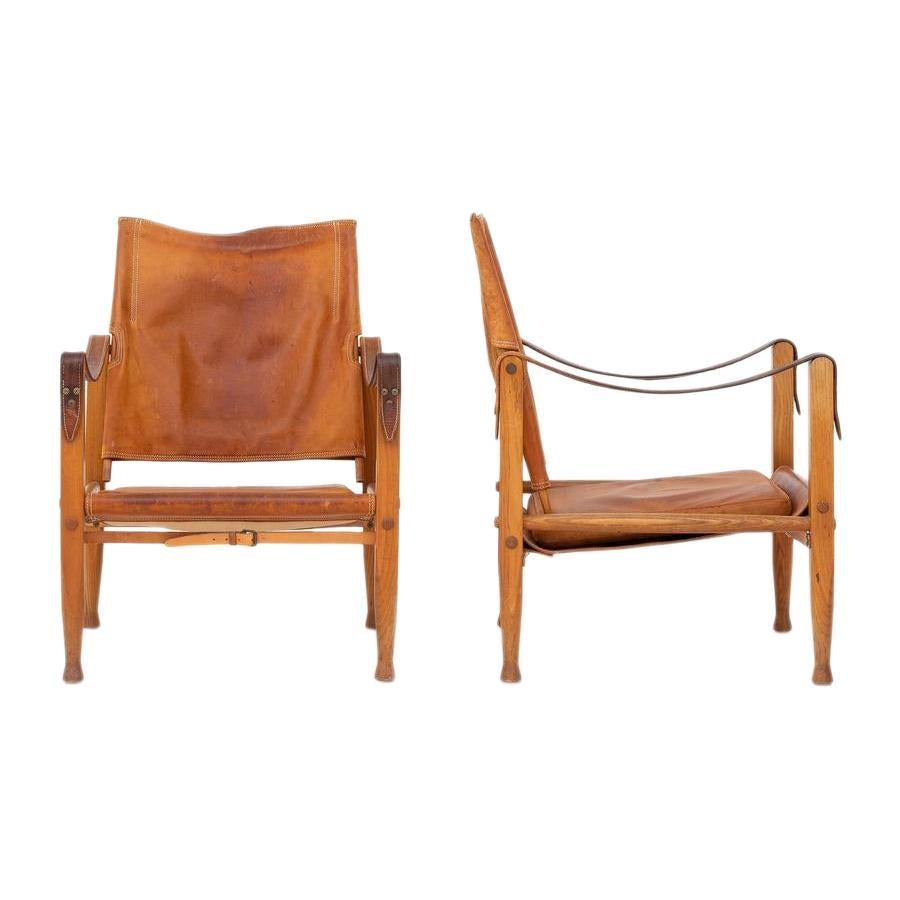 Pair of Safari Chairs by Kaare Klint