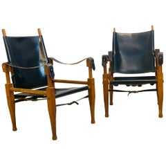 Pair of Safari Chairs in the Style of Kaare Klint