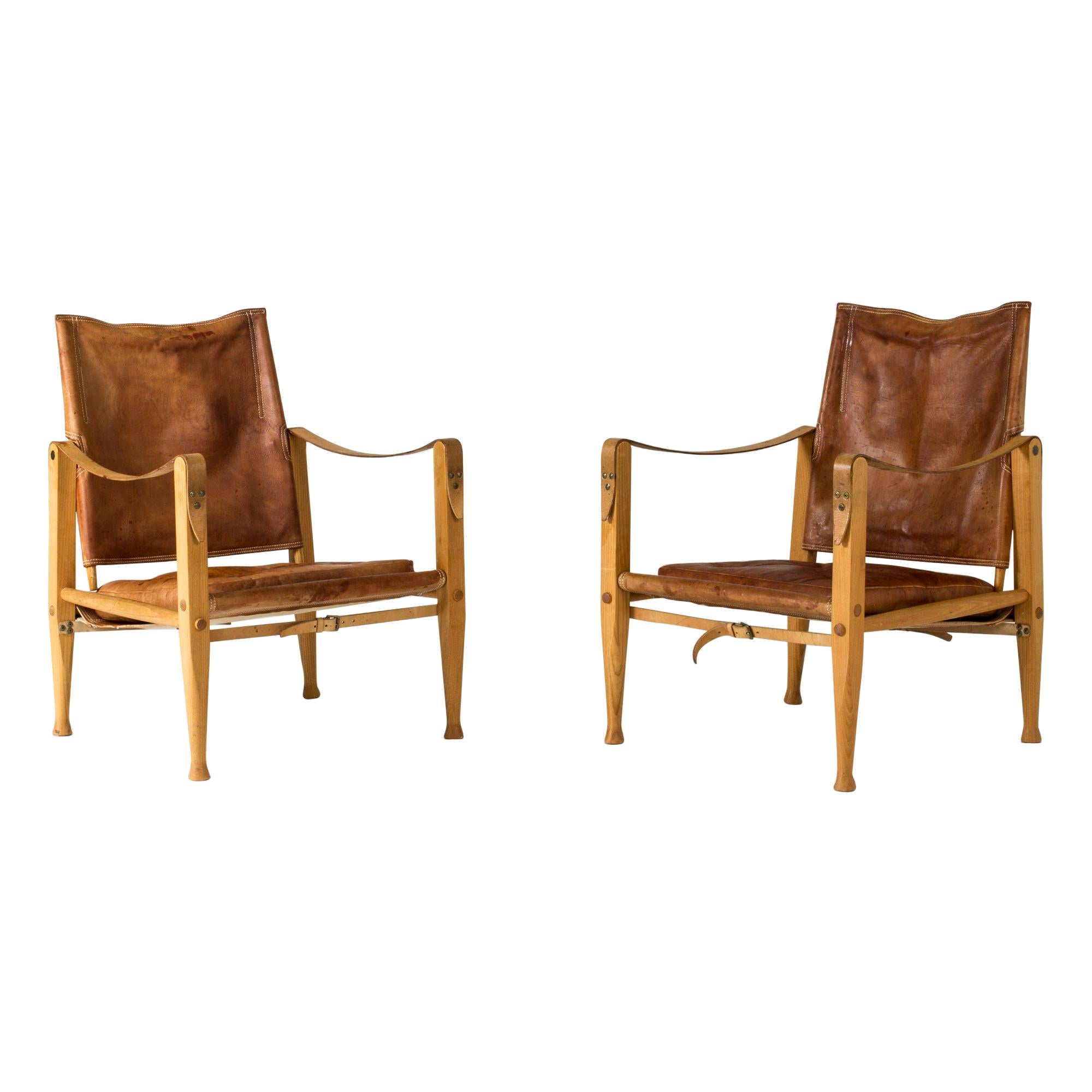 "Pair of ""Safari"" Lounge Chairs by Kaare Klint"