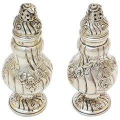 Pair of Salt Shakers Silver Scandinavia
